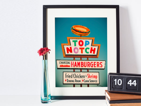 Top Notch Neon Sign Print
