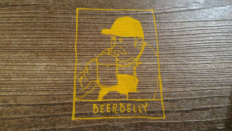 Beerbelly logo mark leather brand