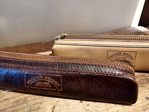 Leather pencil case Anchor bridge
