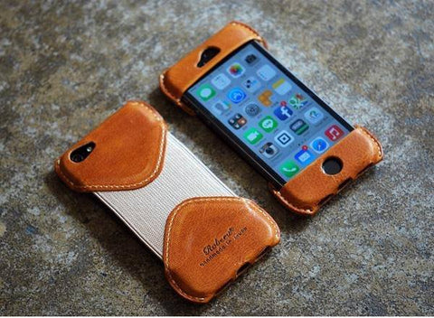 Roberu iPhone leather case