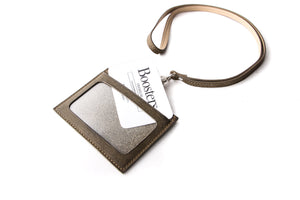 [Boosters]<br>Itlian Leather Badge/ID Holder with Lanyard