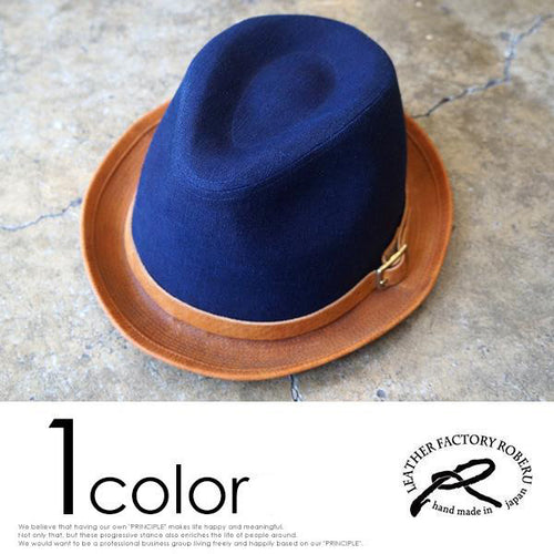 [ROBERU] <br>Natural Dyed<br> Canvas&Leather Hat