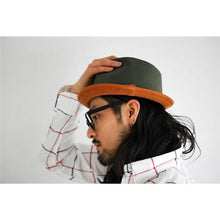 Load image into Gallery viewer, [ROBERU]<br> Natural Dyed<br> Canvas&Leather Hat