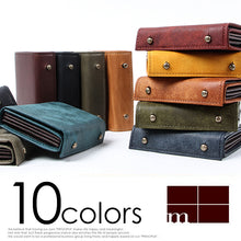 Load image into Gallery viewer, M+ Millefolie Pueblo Leather Wallet 10 color variation
