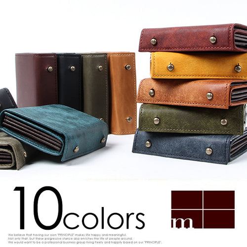 M+ Millefolie Pueblo Leather Wallet 10 color variation