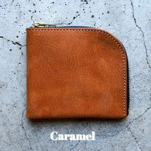 Load image into Gallery viewer, Roberu Caramel Zip Wallet