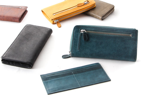 [Boosters]<br>Premium Italian Leather Long zip wallet<br>