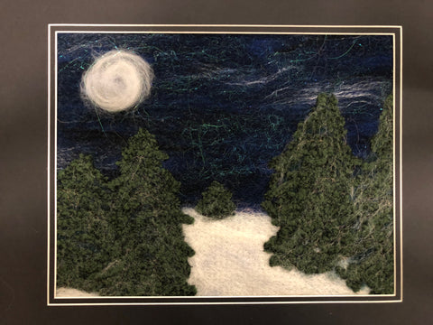 Paint With Fiber Class - February 7th - Moonlight Snow