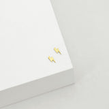 Lightning Bolt Stud - Gold Plated SS