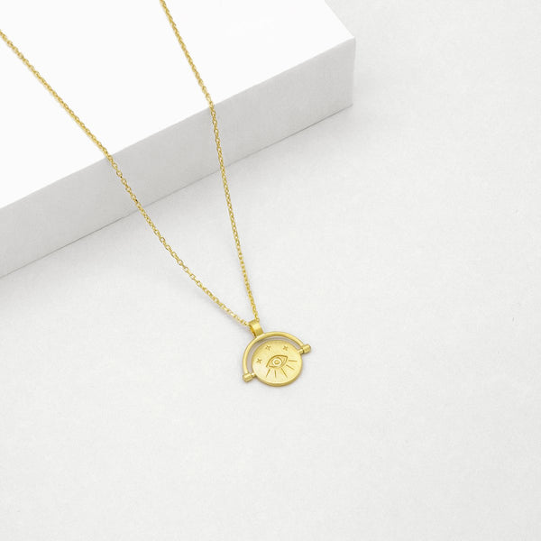 Linda Tahija Amulets of Alchemy Protection Necklace - Gold Plated