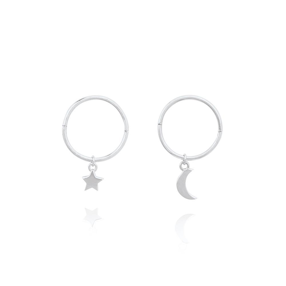 Linda Tahija Star Moon Sleeper - Sterling Silver