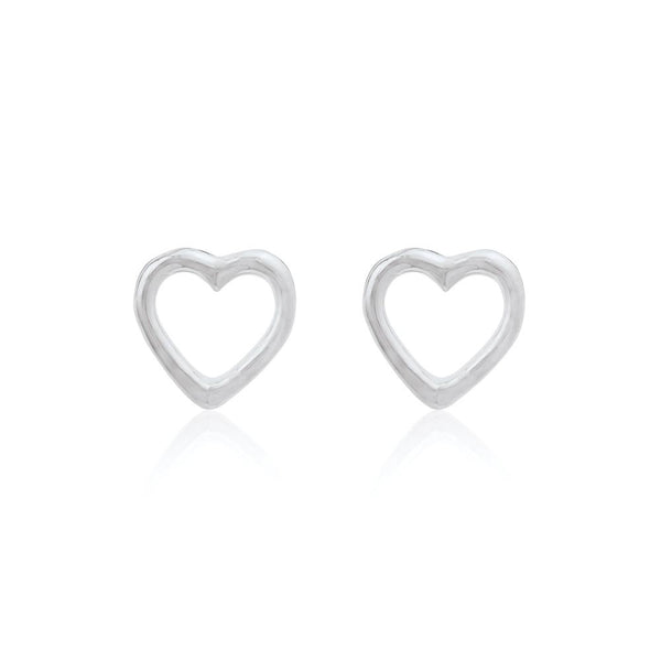 OPEN HEART Stud - Sterling Silver