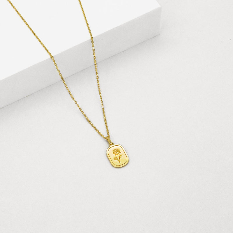 The Rose Necklace - Gold Plated SS