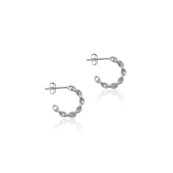 Chain Hoop Earrings - SS