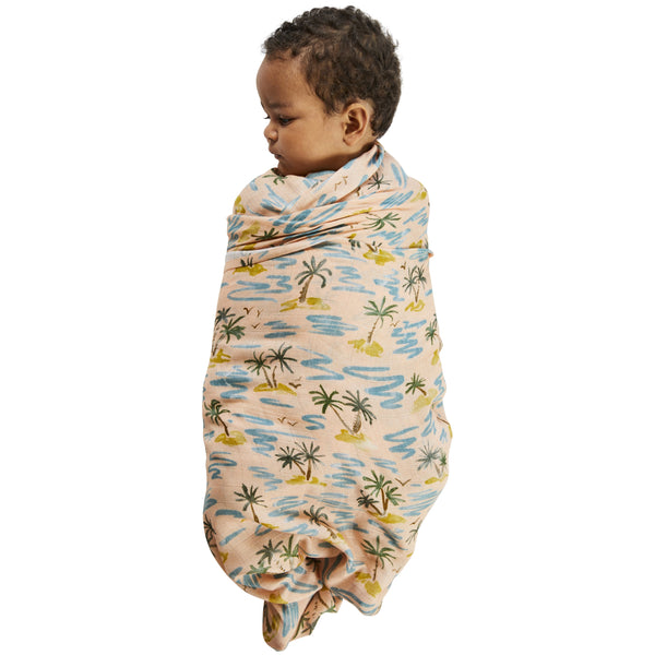 KIP & CO Baby Swaddle Castaway