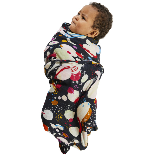 KIP & CO Baby Swaddle Planet Kip