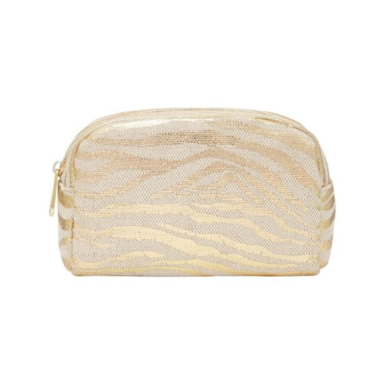 Small Cosmetic Bag GOLD ZEBRA