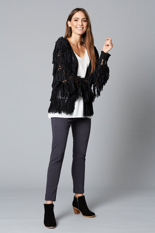 Shag Cardigan - Black