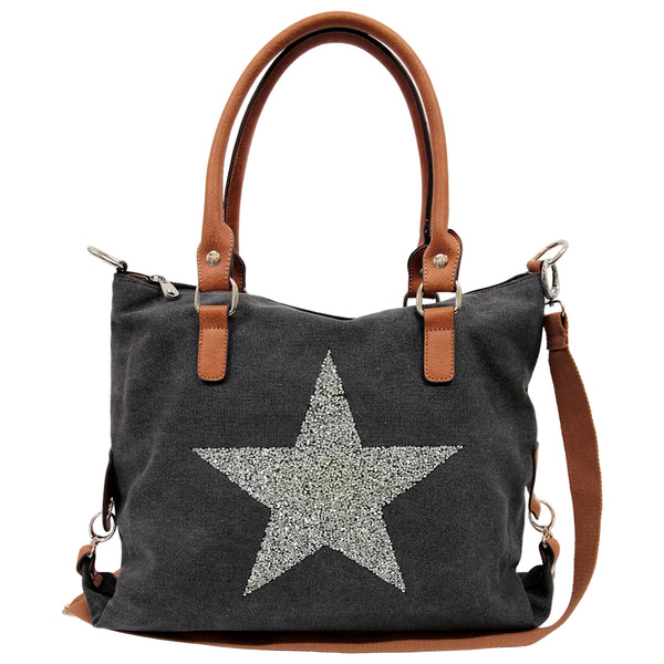 SASSY20 Star Power Canvas Bag BLACK