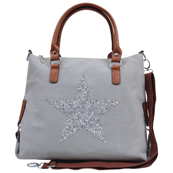 SASSY20 Star Power Canvas Bag GREY