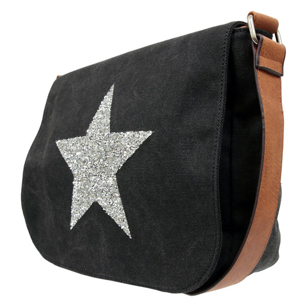 Star Crossbody Bag BLACK