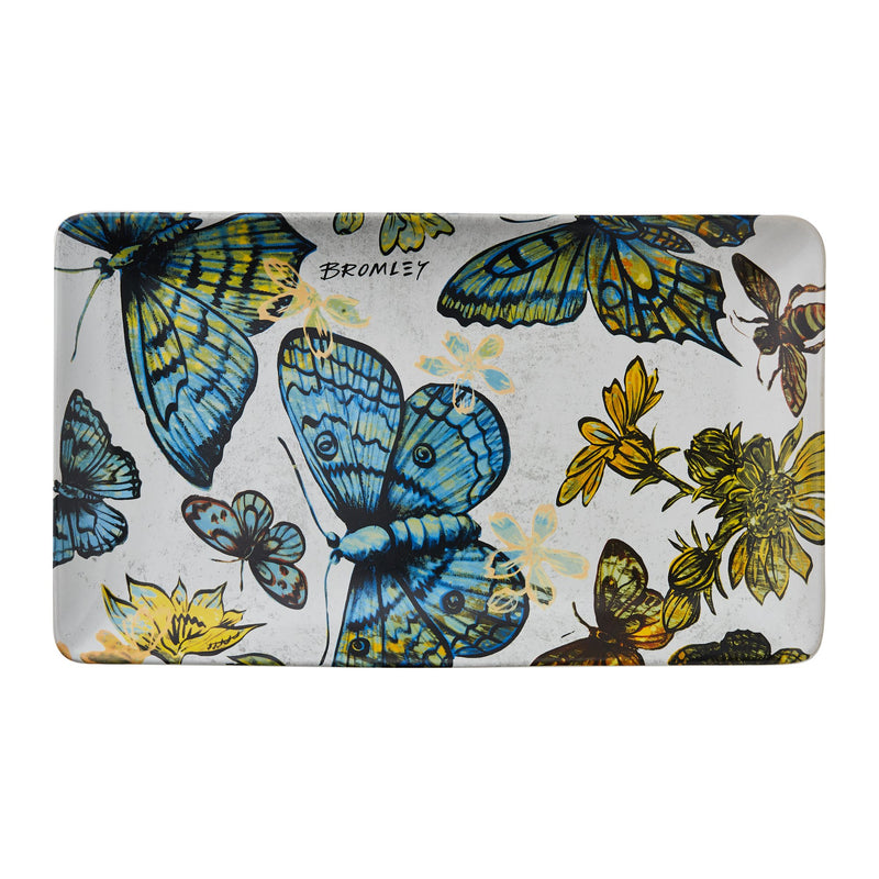RG20 Rectangle Platter BROMLEY BUTTERFLIES