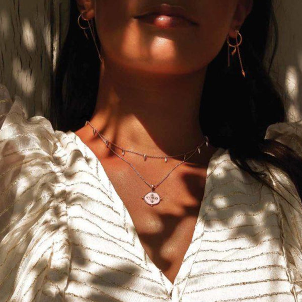 MURKANI Sahara Medallion Necklace ROSE