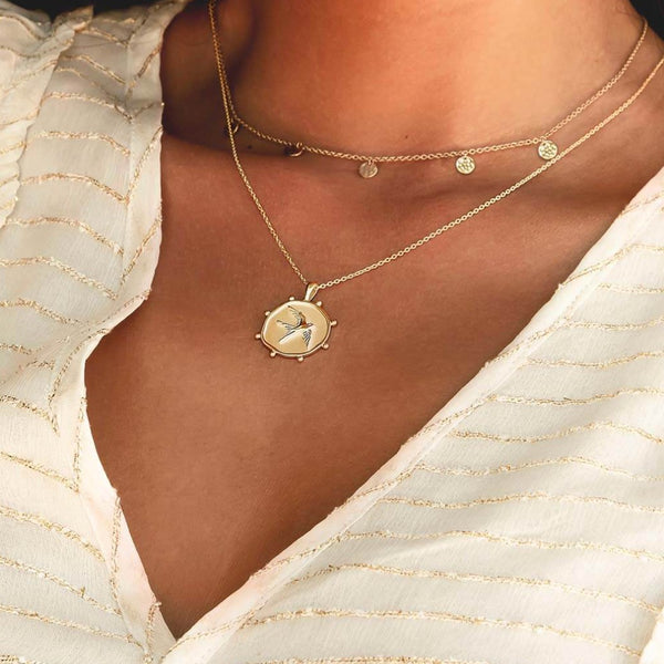 Murkani Freedom Bird Necklace - Gold