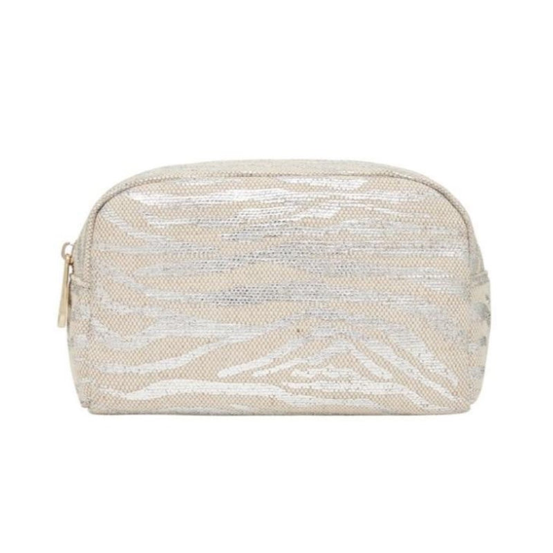 Small Cosmetics Bag SILVER ZEBRA