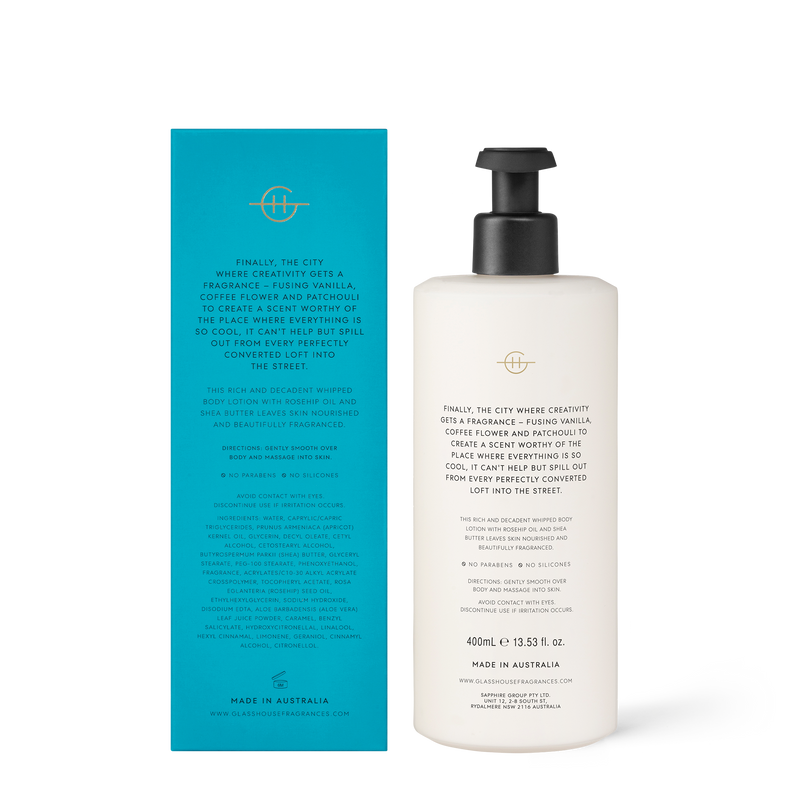 400ml Body Lotion MELBOURNE MUSE