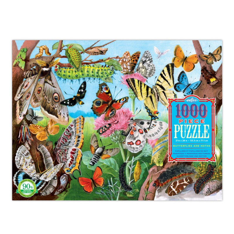 1000 Pce Puzzle BUTTERFLIES & MOTHS