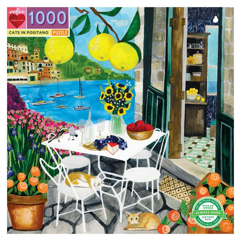 1000 pce Puzzle CATS IN POSITANO