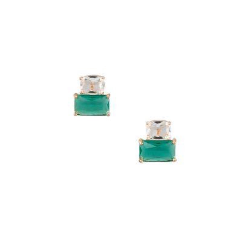 Emerald Cocktail Crystal Earrings