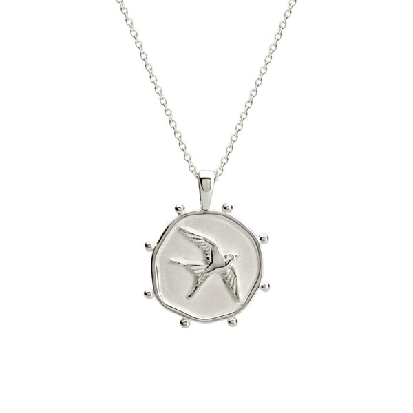 Murkani Freedom Bird Necklace Silver