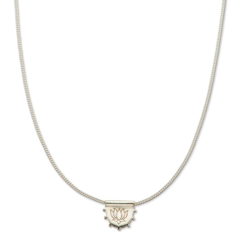 PALAS Lotus Necklace Silver