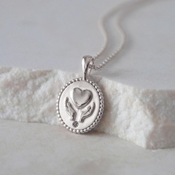 Murkani Healing Hands Necklace Silver