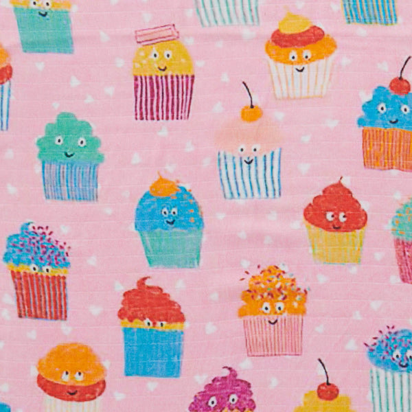 KIP & CO Bamboo Swaddle CUPCAKES