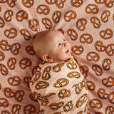 Kip & Co Baby Swaddle PRETZEL PINK
