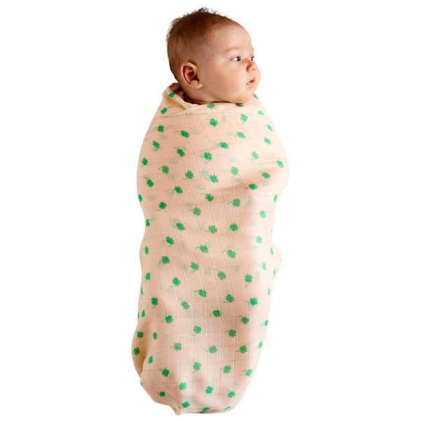Kip & Co Baby Swaddle FOUR LEAF CLOVER
