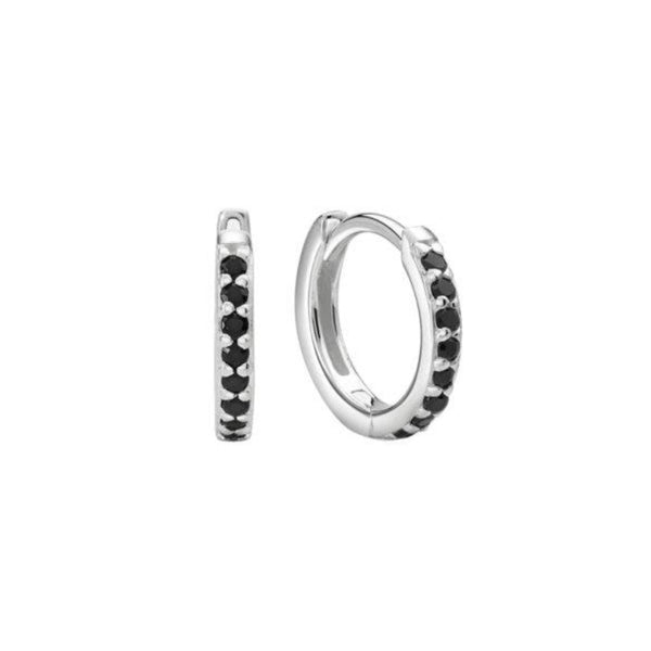 Murkani 11mm Huggies Black Spinel SILVER