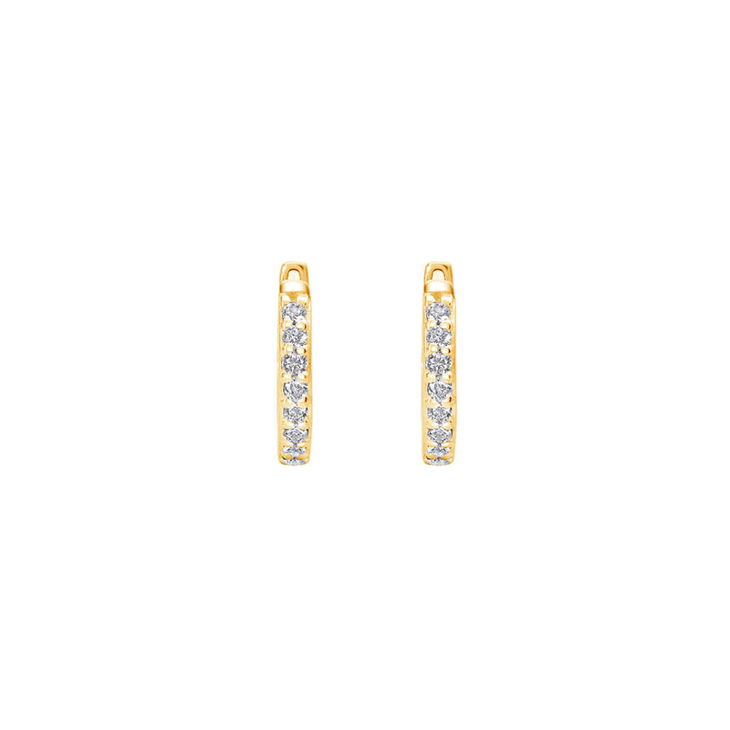 Murkani20 11mm Huggies White Topaz GOLD