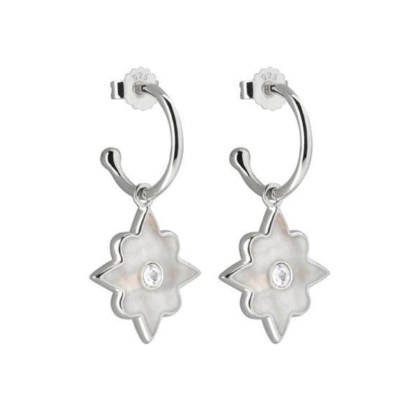 MURKANI Temple Moon Earrings SILVER