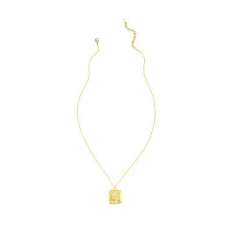 Square Sun Necklace - GOLD