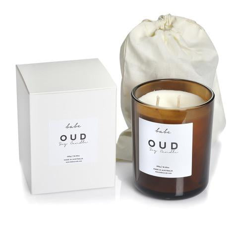 Babe OUD Luxury Soy Candle 55 hr