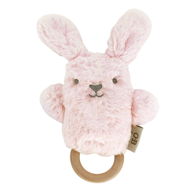 OB DESIGNS Baby Rattle & Wooden Teether BETSY BUNNY