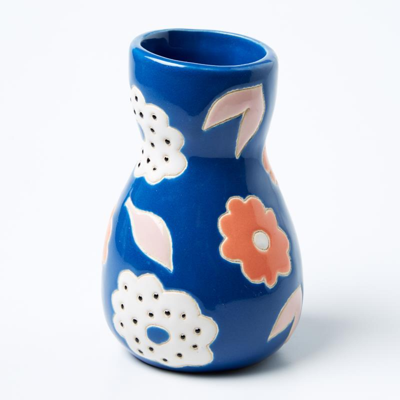 JONES & CO Saturday Vase Blue Floral