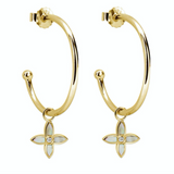 Murkani Desert Flower Medium Hoops Gold