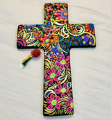 Hand Painted Ceramic Cross BLACK large