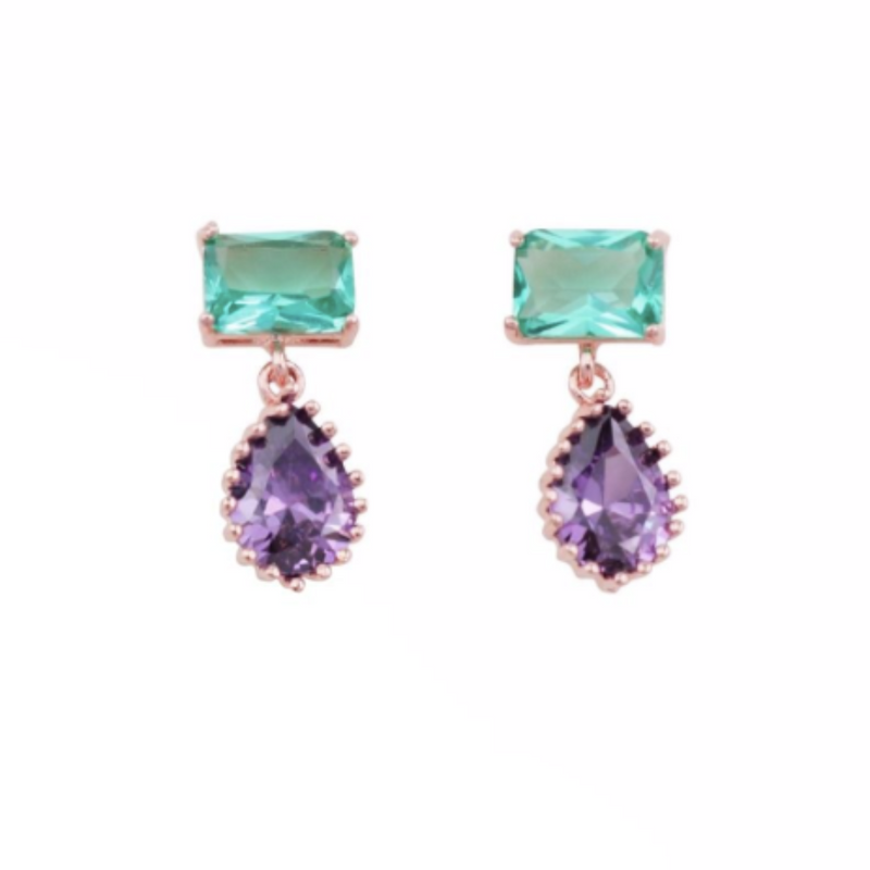 Mint and Mauve Crystal drops