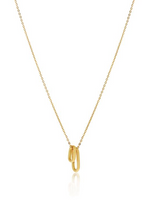 Tiny Ellipse Necklace GOLD PLATED SS